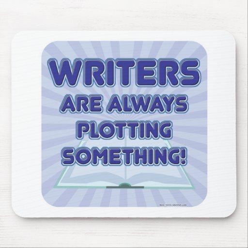 ¡El escritor está trazando algo! Tapetes De Ratones