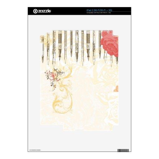 El escritor femenino iPad 2 skin