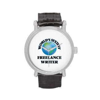 El escritor free lance más atractivo del mundo relojes de mano