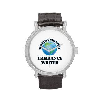El escritor free lance más grande del mundo relojes