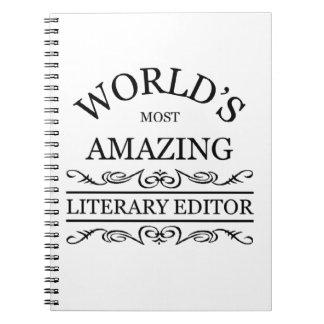 El escritor literario más asombroso del mundo libro de apuntes con espiral