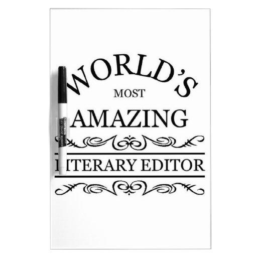 El escritor literario más asombroso del mundo tablero blanco