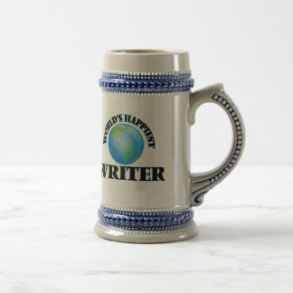 El escritor más feliz del mundo jarra de cerveza