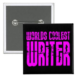 El escritor más fresco del chica de los mundos ros pin