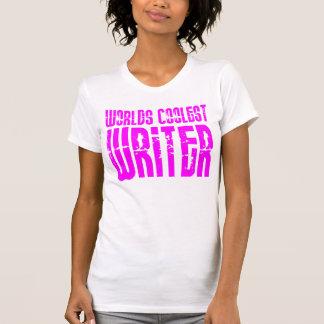 El escritor más fresco del chica de los mundos ros camiseta