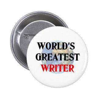 El escritor más grande del mundo pin redondo 5 cm