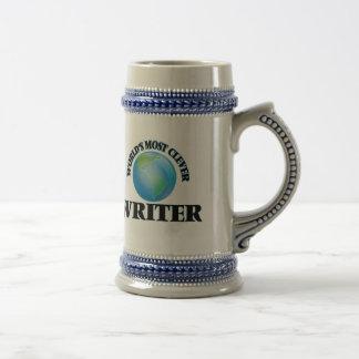 El escritor más listo del mundo jarra de cerveza