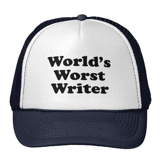 El escritor peor del mundo gorro