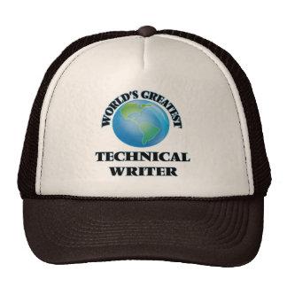 El escritor técnico más grande del mundo gorros