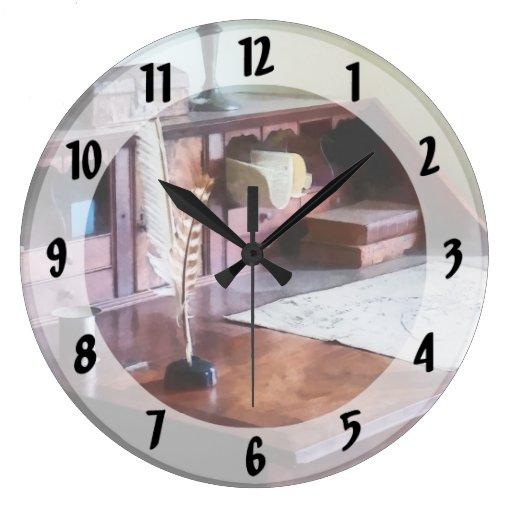 El escritorio del cartógrafo relojes