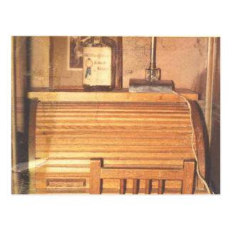 El escritorio del top de rollo postales