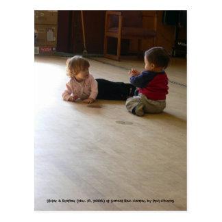 El escuchar la charla del niño… tarjeta postal