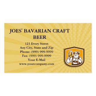 El escudo bávaro de la taza del bebedor de cerveza tarjetas de negocios
