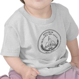 El escudo de armas de la república de moluqueños camisetas
