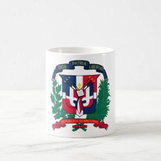 El escudo de armas de la República Dominicana HACE Taza Clásica