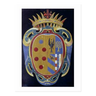 El escudo de armas de Medici-Lorena c 1638 dur d Tarjetas Postales