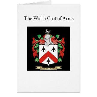 El escudo de armas de Walsh Tarjeta Pequeña