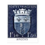 El escudo de armas, enoja Francia Postales