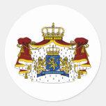 El escudo de armas holandés etiquetas redondas