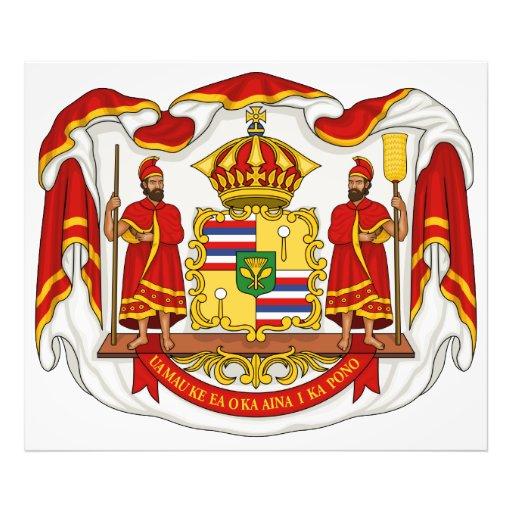 El escudo de armas real del Reino de Hawaii Fotos