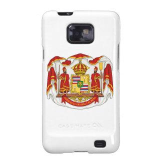 El escudo de armas real del Reino de Hawaii Samsung Galaxy S2 Carcasas