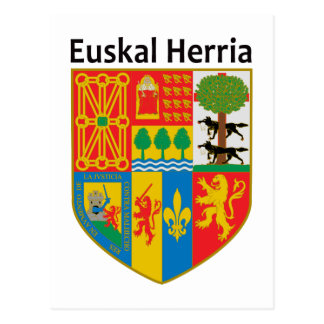 El escudo de armas vasco del país (Euskal Herria), Tarjetas Postales