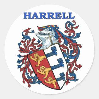 El escudo de la familia de Harrell Pegatina