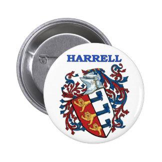 El escudo de la familia de Harrell Pin
