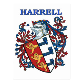 El escudo de la familia de Harrell Postal