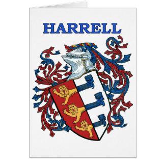 El escudo de la familia de Harrell Tarjeta