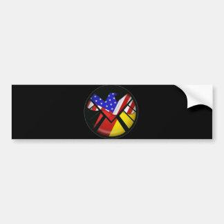 El escudo de la maravilla americana alemana pegatina para auto