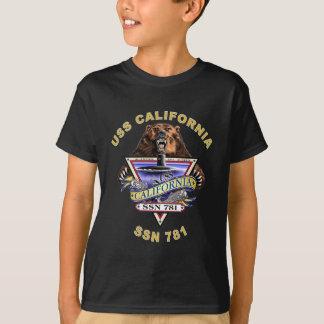 El escudo de la nave de USS California SSN 781 Playera