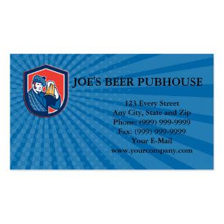 El escudo de la taza del bebedor de cerveza del plantilla de tarjeta de visita