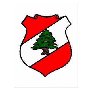 El escudo de Líbano Postales