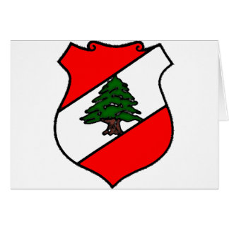 El escudo de Líbano Tarjeta De Felicitación