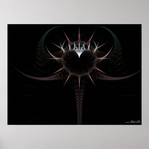 El escudo del guerrero del poder impresiones
