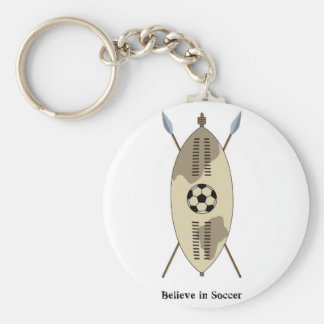 El escudo del Zulú, cree en fútbol Llavero Redondo Tipo Pin