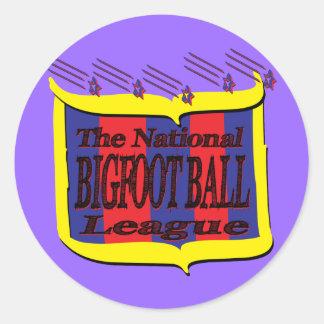 El escudo nacional de la estrella de la liga de la pegatina redonda