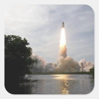El esfuerzo del transbordador espacial quita 4 pegatina cuadrada