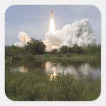 El esfuerzo del transbordador espacial quita 7 pegatina cuadrada