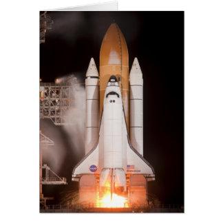 El esfuerzo del transbordador espacial quita tarjeta de felicitación
