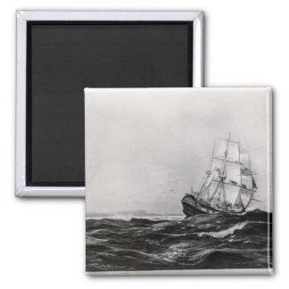 El esfuerzo en Sea, 1900, grabado por Lowy Imán De Nevera
