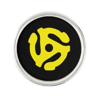 El espaciador retro FRESCO DJ del amarillo 45 del  Pin