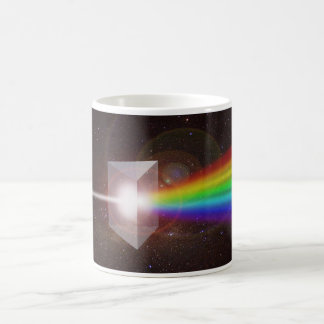 El espacio del espectro de color de la prisma taza clásica