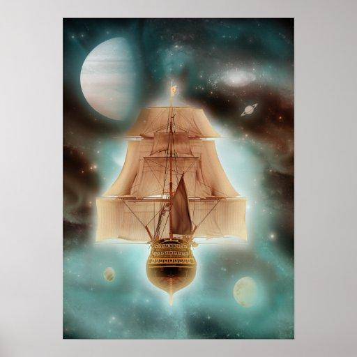 El espacio desconocido de los reinos imprime, las póster