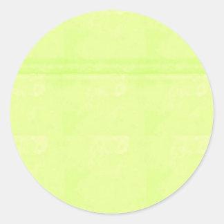 El espacio en blanco de la plantilla añade su pegatina redonda