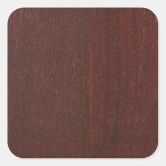 El espacio en blanco de madera DE CAOBA Blanche de Pegatina Cuadrada