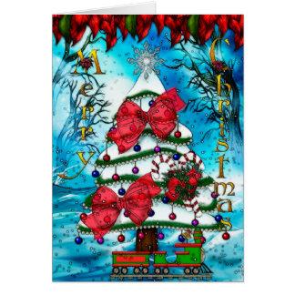 El ESPACIO EN BLANCO del arte popular del navidad Tarjeta Pequeña