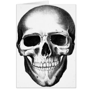 El espacio en blanco esquelético de la máscara del tarjeta de felicitación