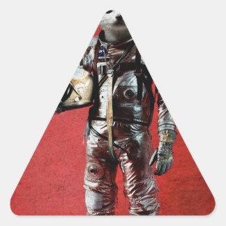 El espacio está llamando pegatina triangular